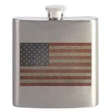 Weathered American Flag Flask