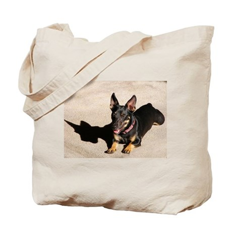 That Day Glow Dog is at it Again Tote Bag
