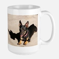 That Day Glow Dog is at it Again Large Mug