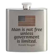 Reagan - Man is Not Free Flask