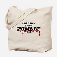 Librarian Zombie Tote Bag