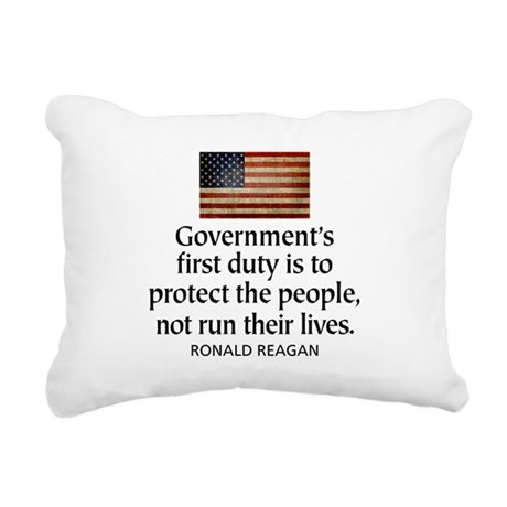 Governments first duty Rectangular Canvas Pillow