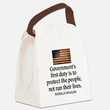 Governments first duty Canvas Lunch Bag