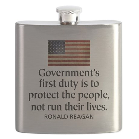 Governments first duty Flask