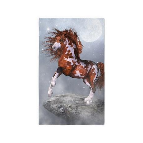 Native Horse 3'x5' Area Rug