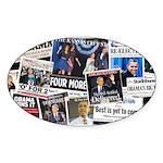Obama Wins 2012 Newspaper Sticker (Oval 10 pk)