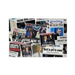Obama Wins 2012 Newspaper Rectangle Magnet (10 pac
