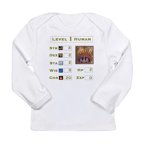 level 1 human RPG.JPG Long Sleeve T-Shirt