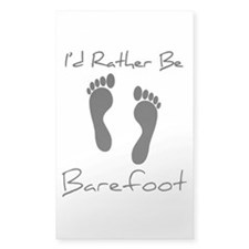 I'd Rather Be Barefoot - Decal