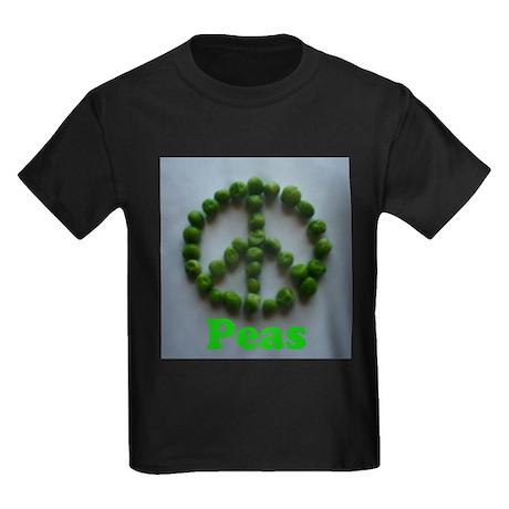 Peas (Peace) Kids Dark T-Shirt
