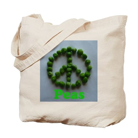 Peas (Peace) Tote Bag