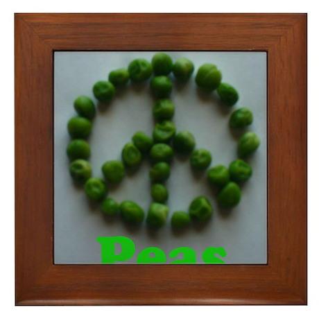 Peas (Peace) Framed Tile
