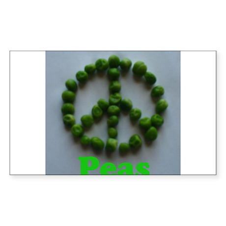 Peas (Peace) Sticker (Rectangle)
