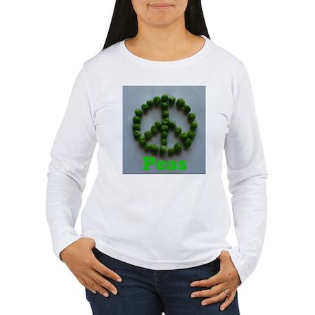 Peas (Peace) Women's Long Sleeve T-Shirt