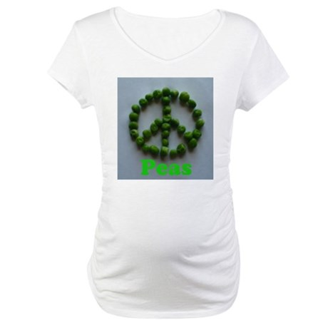 Peas (Peace) Maternity T-Shirt