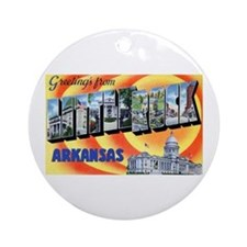 Little Rock Arkansas Ornament (Round)