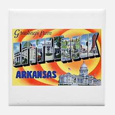 Little Rock Arkansas Tile Coaster