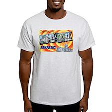 Little Rock Arkansas (Front) Ash Grey T-Shirt