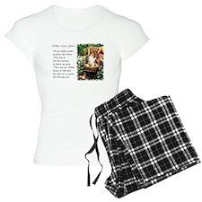 garden shetland sheepdog edged.png pajamas
