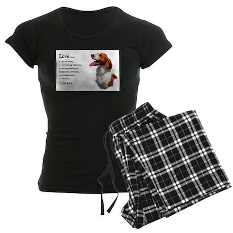 American Brittany Spaniel Women's Dark Pajamas