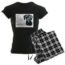 Black Great Dane Pajamas