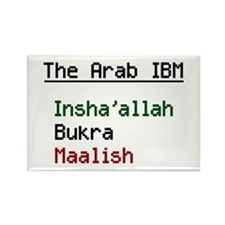 The Arab IBM Rectangle Magnet