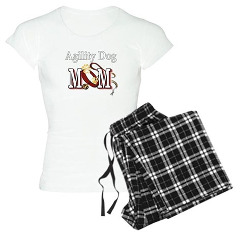 1 agility dog mom darks.png Women's Light Pajamas