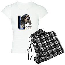 Bluetick Coonhound Love pajamas