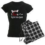 NB_English Cocker Spaniel Women's Dark Pajamas