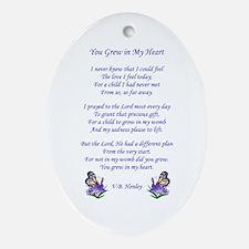 Adoption Poem Oval Ornament
