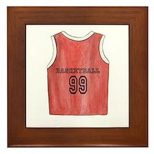 Basketball Jersey Framed Tile