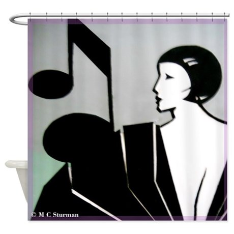 Music Music Note Art Deco Shower Curtain By Meowries