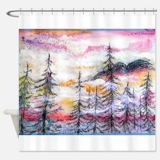 Landscape, colorful art! Shower Curtain