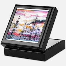 Landscape, colorful art! Keepsake Box