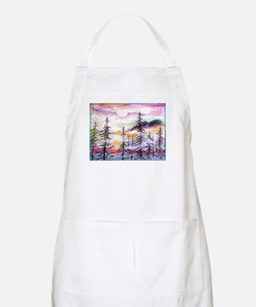 Landscape, colorful art! Apron