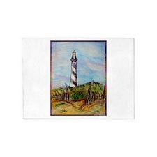 Lighthouse! Colorful art! 5'x7'Area Rug