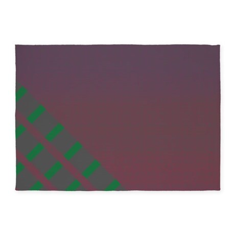 Plum Green 5'x7'Area Rug