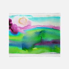 landscape, colorful art! Throw Blanket