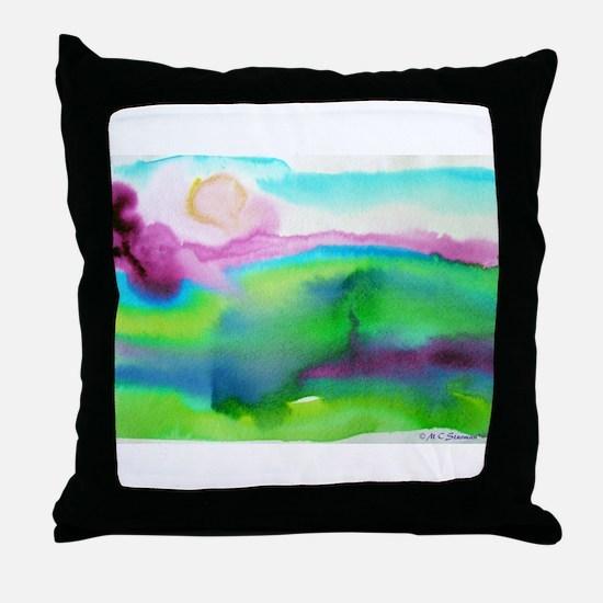 landscape, colorful art! Throw Pillow