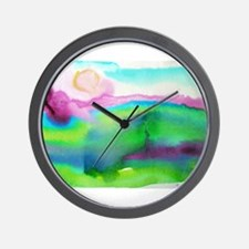 landscape, colorful art! Wall Clock