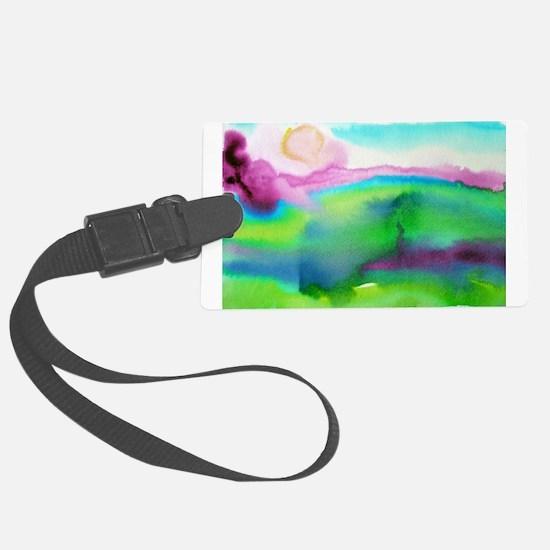 landscape, colorful art! Large Luggage Tag