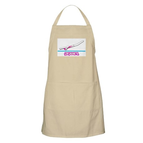 Swimmer (Girl) Pink Suit BBQ Apron