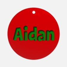 Aidan Red and Green Ornament (Round)