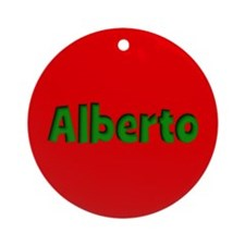 Alberto Red and Green Ornament (Round)