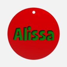 Alissa Red and Green Ornament (Round)