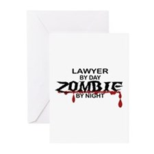 Lawyer by Day Zombie by Night Greeting Cards (Pk o