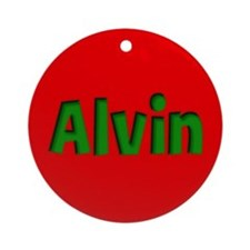 Alvin Red and Green Ornament (Round)