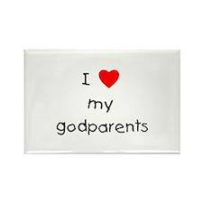 I love my godparents Rectangle Magnet