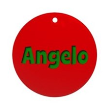 Angelo Red and Green Ornament (Round)