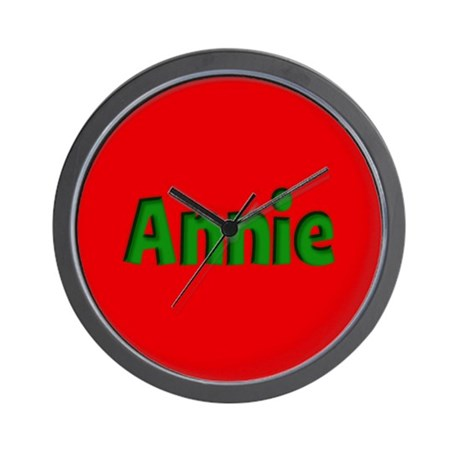 Annie Red and Green Wall Clock